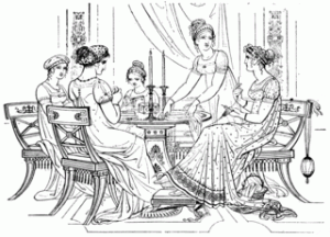 Young Ladies playing Cards