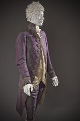 Shot silk suit - 1790 (Wikimedia)