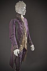 Shot silk suit - 1790 (Wikimedia)