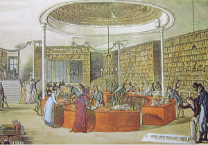 Lackington Allen Co Bookstore, 1809 Ackermann print