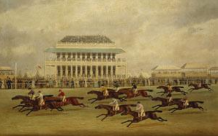 Finish of the Epsom Derby, 1822. (Painting by James Pollard. Photo: Wikimedia Commons)