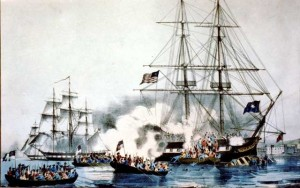 Privateers at war during the battle of 1812