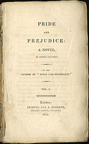 Original title page of Pride and Prejudice