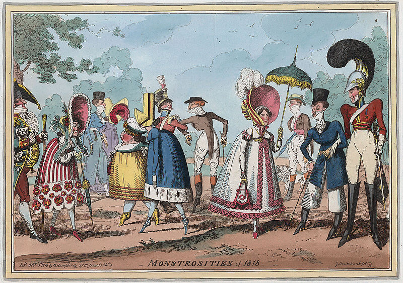 This mocks some of the rather impractical fashions of 1818