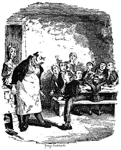This is one of Cruikshank's numerous illustrations for Oliver Twist.