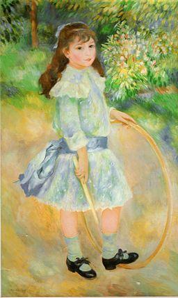 Girl with a Hoop via wikimedia commons