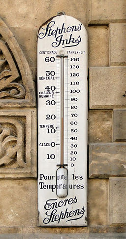 Thermometer on the wall