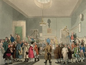 The courtroom at #4 Bow Street.