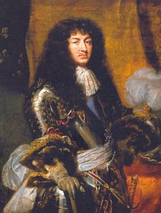 Louis XIV with his new neckwear.