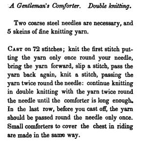 Gentleman's Comforter from Watts-Ladies' Knitting and Netting Book 1st series