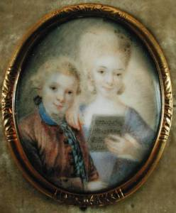 Amadeus Mozart and his sister, 1765