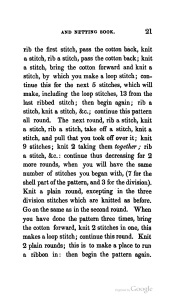 Shell Pattern Manchettes Watts-Ladies' Knitting and Netting Book 1st series 5th edition 1840 2